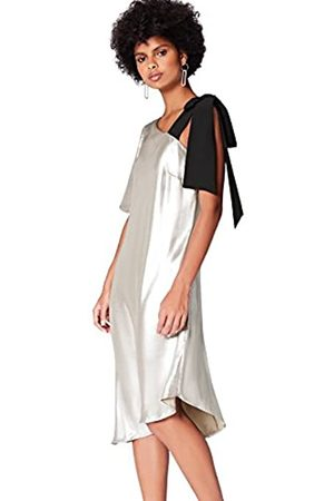 FIND Marchio Amazon - Vestito Midi Asimmetrico Donna, , 42, Label: S