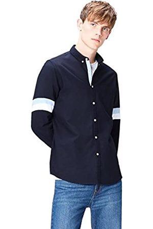 FIND Camicia a Righe in Cotone Slim Fit Uomo, , Small