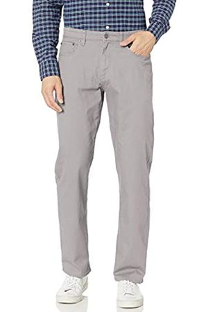 Amazon Relaxed-Fit 5-Pocket Stretch Twill Pant Pantaloni Casual, Light Grey, 38W / 30L