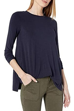 Daily Ritual Long-Sleeve Split-Hem Tunic Shirts, Dainty, US S