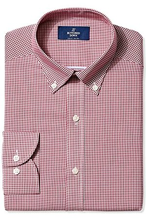 """Buttoned Down Slim Fit Pattern Camicia, , 17"""" Neck 38"""" Sleeve"""