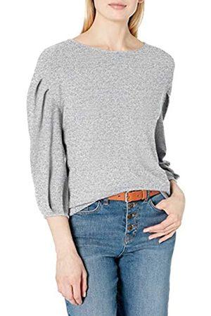 Daily Ritual Cozy Knit Bateau-Maglia a Pieghe Shirts, Heather Grey Marl, US