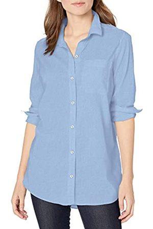 Goodthreads Lightweight Poplin Long-Sleeve Boyfriend Shirt Dress-Shirts, Light Blue Dobby DOT, US XL