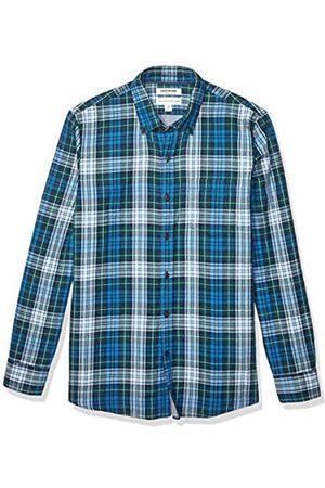 Goodthreads Marchio Amazon – - camicia double-face a maniche lunghe, da uomo, vestibilità standard, Sea Blue Green Tartan With Chambray, US S