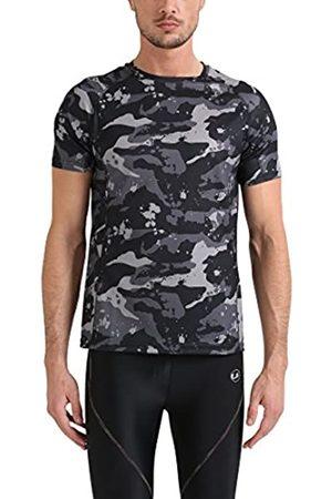 Lower East Le234 T-Shirt, Schwarz/Grau/Hellgrau), X-Large