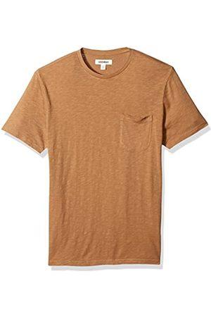 Goodthreads Short-Sleeve Lightweight Crewneck Slub Pocket T-Shirt, Tan, M
