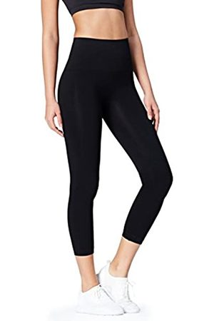Activewear Women's Seamless Yoga Sports Tights,Black,14