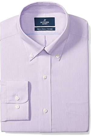 """Buttoned Down Classic Fit Button Collar Pattern Camicia, , 17"""" Neck 37"""" Sleeve"""