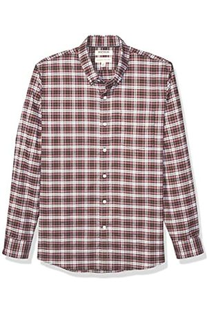 Goodthreads Uomo Casual - Standard-Fit Long-Sleeve Stretch Oxford Shirt Button-Down-Shirts, Red White Check, Medium Tall