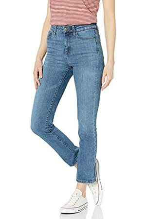 Goodthreads High Rise Slim Straight Jeans, Mid-Blue, 27