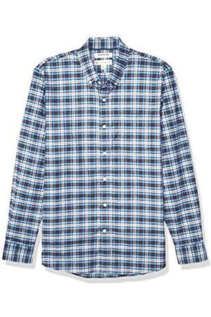 Goodthreads Standard-Fit Long-Sleeve Stretch Oxford Shirt Camicia Che Si abbottona, Blue White Check, XL Tall