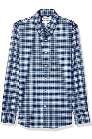Goodthreads Slim-Fit Long-Sleeve Stretch Oxford Shirt Camicia, Uomo, Blue White Check, M