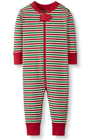 Moon and Back by Hanna Andersson Moon and Back One Piece Footless Pajamas Infant-And-Toddler-Sleepers, Red/Green Stripe, 6-12 mesi