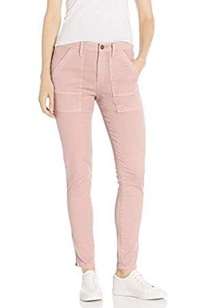 Daily Ritual Stretch Cotton/Lyocell Zip-Pocket Utility Pant Work Pants, Pale Mauve, US 0