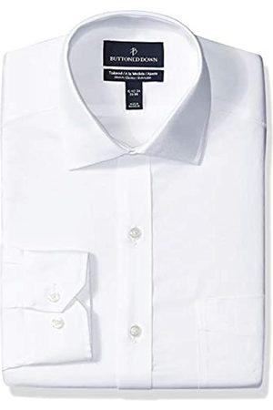 """Buttoned Down Tailored-Fit Stretch Twill Non-Iron Dress Shirt Shirts, Infradito Colorati Estivi, con finte Perline, 17"""" Neck 32"""" Sleeve"""
