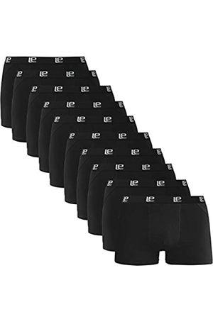 Lower East Uomo Boxer shorts - American Style Boxer, Schwarz), XX-Large , Pacco da 10