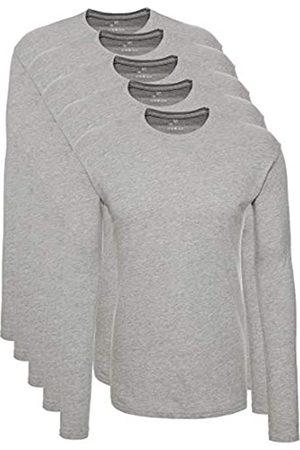 Lower East T-Shirt a Maniche Lunghe Uomo, Pacco da 5, , 3XL