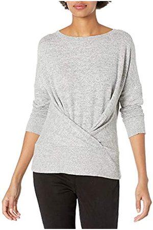 Daily Ritual Cozy Knit Pleat Front Drappeggiato Felpa Fashion-Sweatshirts, Heather Grey Marl, US XXL