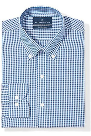 """Buttoned Down Slim Fit Button Collar Pattern Camicia, , 14.5"""" Neck 34"""" Sleeve"""