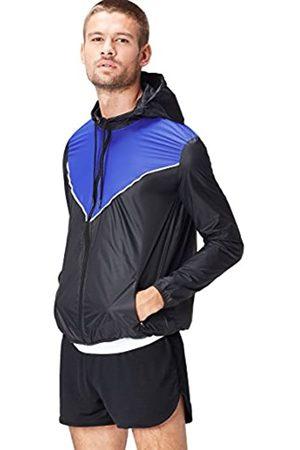 Activewear Giacca a Vento con Cappuccio Uomo, Schwarz , Large