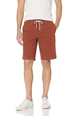 Goodthreads 11 inch Inseam Pull-On Stretch Canvas Short Flat-Front-Shorts, Ruggine, US XXL