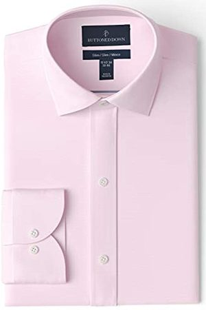 "Buttoned Down Uomo Polo - Slim Fit Spread Collar Solid Non-Iron Dress Shirt Camicia, , 16"" Neck 32"" Sleeve"