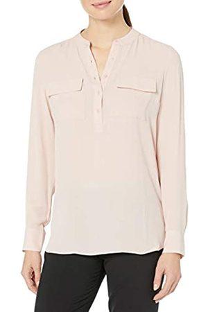 Lark & Ro Bambina Tuniche - Long Sleeve Sheer Utility Woven Tunic Top with Band Collar Shirts, Hyperfast 2.0 El K-Bambini, US 14