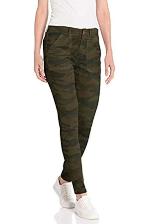 Daily Ritual Stretch Cotton/Lyocell Utility Pant Work Pants, Olive Camo, US 8