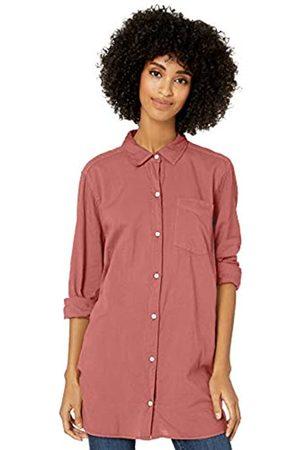 Goodthreads Lightweight Poplin Long-Sleeve Button-Front Shirt Dress-Shirts, Dark Rose, US