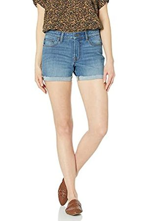 Goodthreads Denim Turn-Cuff Short Shorts, Mid-Blue, 32