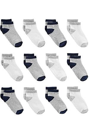 Simple Joys by Carter's Calzini alla caviglia per bambini e neonati, confezione da 12 ,Gray/White ,6-12 Months