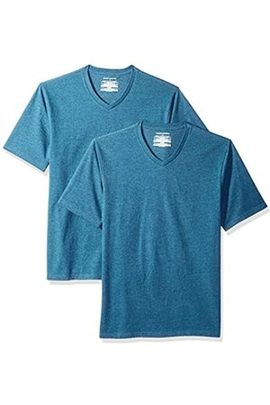 Amazon Confezione da 2 magliette con scollo a V, da uomo, vestibilità larga, , US S