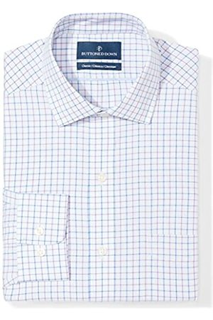"""Buttoned Down Classic Fit Spread Collar Pattern Camicia, , 17.5"""" Neck 34"""" Sleeve"""