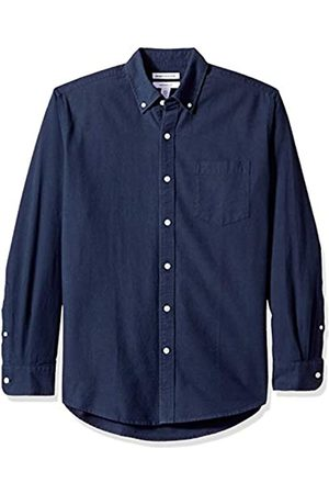 Amazon Regular-Fit Long-Sleeve Solid Pocket Oxford Camicia, , US
