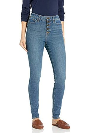 Goodthreads Exposed-Fly High-Rise Skinny Jeans, Authentic Blue, 30 Short
