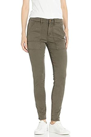 Daily Ritual Stretch Cotton/Lyocell Zip-Pocket Utility Pant Pants, Surplus, US 0