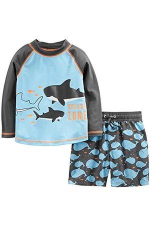 Simple Joys by Carter's Costume da bagno per bambini e neonati, 2 pezzi ,Blue Whales ,4T