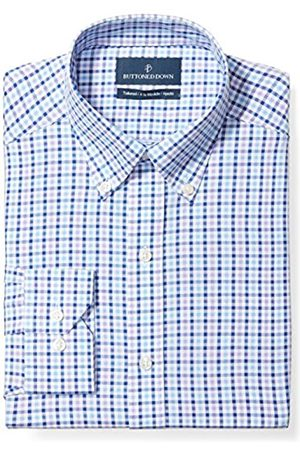"""Buttoned Down Tailored Fit Button-Collar Pattern Non-Iron Dress Shirt Camicia, , 17.5"""" Neck 34"""" Sleeve"""
