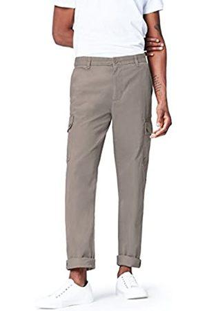FIND Marchio Amazon - Pantaloni Cargo in Cotone Uomo, , 34, Label: 34