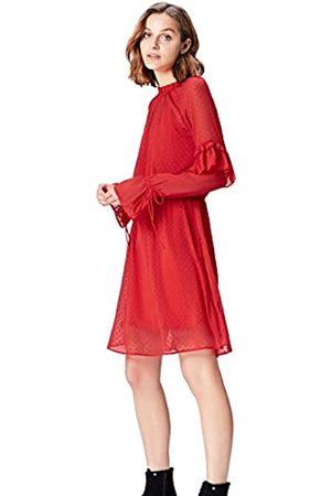 FIND Marchio Amazon - Vestito Semi-trasparente con Rouches Donna, , 48, Label: XL