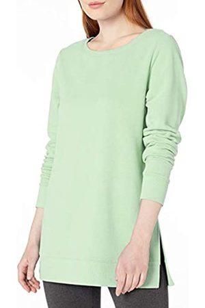Amazon Tunica in Spugna Francese con Scollo Aperto Fashion-Sweatshirts, Menta Brillante, US S