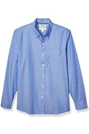 Goodthreads Marchio Amazon - , camicia da uomo, a maniche lunghe, popeline elasticizzato e comodo, facile da lavare, Standard Fit, French Blue, US M