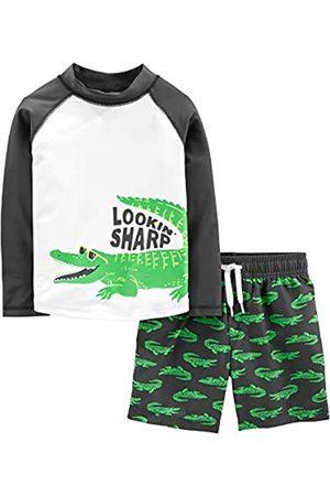 Simple Joys by Carter's Costume da bagno per bambini e neonati, 2 pezzi ,Green Alligator ,4T