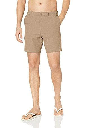 "28 Palms 7"" Inseam Hybrid Board Short Shorts, Khaki Heather, 33"