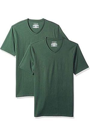 Amazon Confezione da 2 magliette da uomo con scollo a V, slim fit, , US XXL
