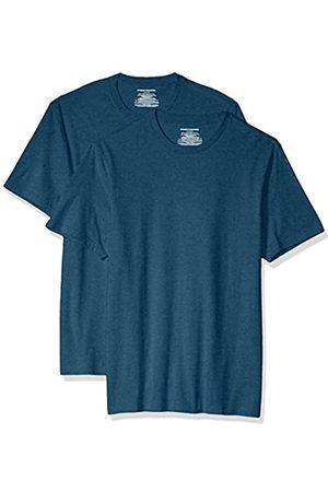 Amazon 2-Pack Slim-Fit Short-Sleeve Crewneck T-Shirt Fashion-t-Shirts, Teal Heather, US