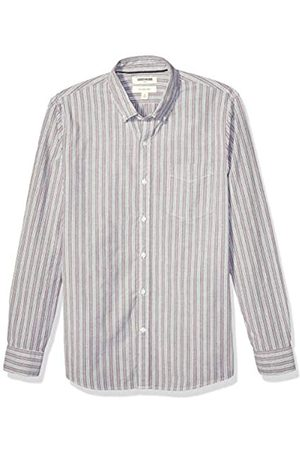 Goodthreads Slim-Fit Long-Sleeve Fashion Stripe Oxford Shirt Button-Down-Shirts, Burgundy Multi, US S