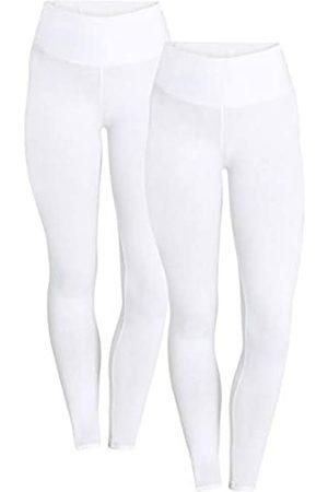 Berydale Hochbund Leggings, Bianco Weiß), 42 , Pacco da 2