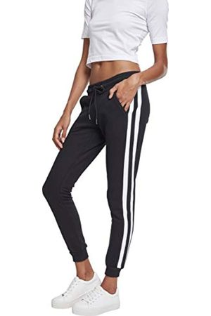 Urban classics Ladies College Contrast Sweatpants Pantaloni, Multicolore White/Black 01293, W30 Donna