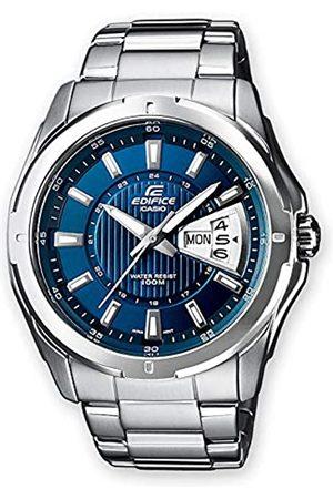 Casio EDIFICE Orologio, Robusta Cassa, 10 BAR, Azzurro, Uomo con Cinturino in Acciaio Inox EF-129D-2AVEF
